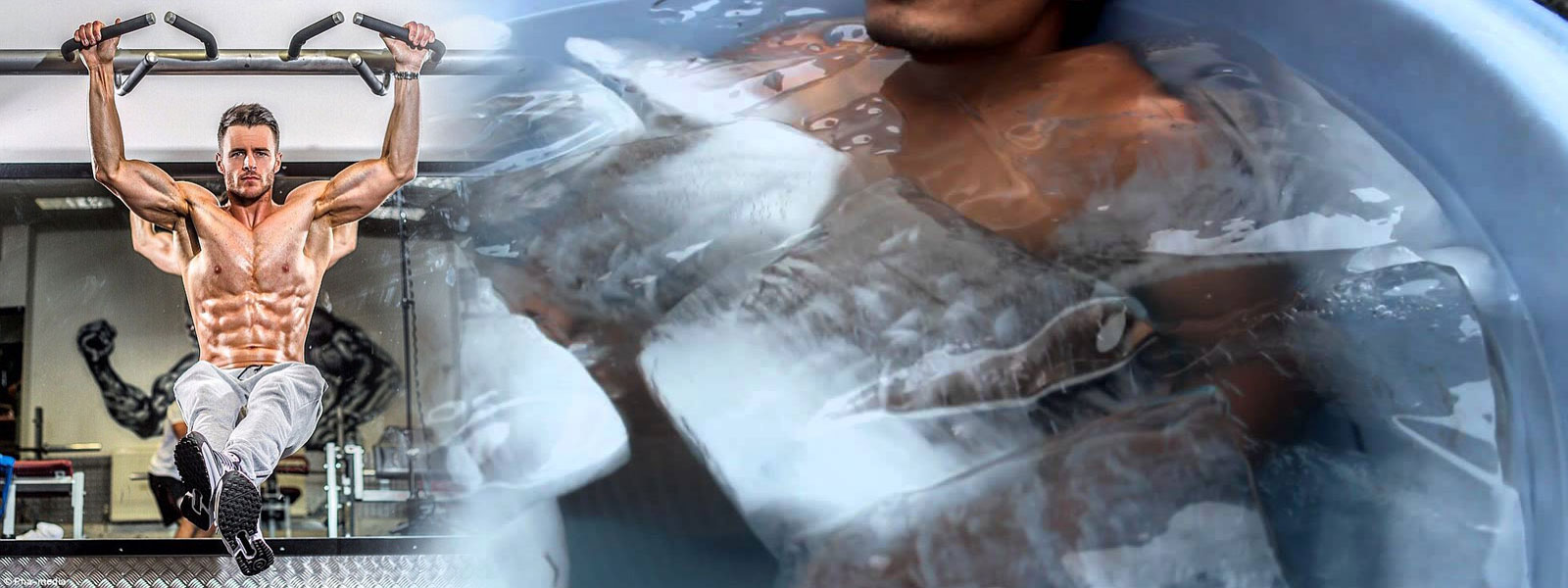 Покачване на мускулна маса и ледена вана след тренировка